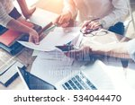 business team brainstorming in... | Shutterstock . vector #534044470