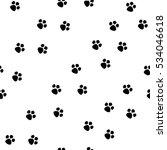 black footprint seamless... | Shutterstock . vector #534046618