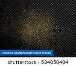 gold glitter particles vector... | Shutterstock .eps vector #534050404
