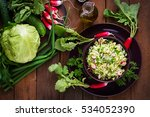 vitamin salad of young... | Shutterstock . vector #534052390