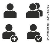 account vector icons set....   Shutterstock .eps vector #534052789