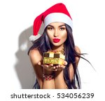 Beauty christmas fashion model...
