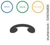 phone icon vector flat design...