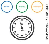 clock icon vector flat design... | Shutterstock .eps vector #534056830