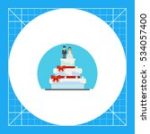 wedding cake with figurines icon | Shutterstock .eps vector #534057400