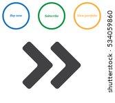 arrow icon vector flat design... | Shutterstock .eps vector #534059860