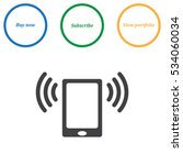 smartphone icon vector flat... | Shutterstock .eps vector #534060034