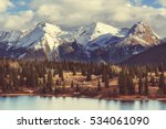 Mountain Landscape in Colorado Rocky Mountains, Colorado, United States. - stock photo
