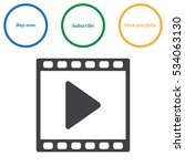 video icon vector flat design... | Shutterstock .eps vector #534063130