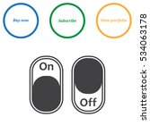 on off switch icon vector flat... | Shutterstock .eps vector #534063178