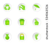 natural environment icons set.... | Shutterstock .eps vector #534063526