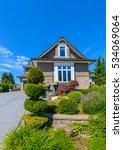 custom built luxury house with... | Shutterstock . vector #534069064