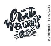 create memories concept ... | Shutterstock .eps vector #534071158