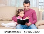 little girl and father are... | Shutterstock . vector #534072520