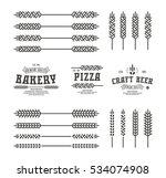set of stylized ear wheat....   Shutterstock .eps vector #534074908