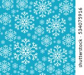 snowflake simple seamless... | Shutterstock .eps vector #534075916