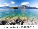 lake walchensee with... | Shutterstock . vector #534078010