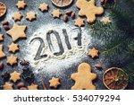 Happy New Year 2017 Card  Fram...