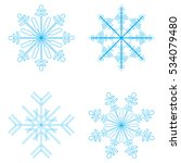 snow set in winter isolated on... | Shutterstock .eps vector #534079480