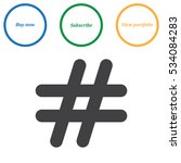 hashtags icon vector flat... | Shutterstock .eps vector #534084283