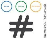 hashtags icon vector flat... | Shutterstock .eps vector #534084283