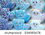 colorful cookies   cat shaped   Shutterstock . vector #534085678