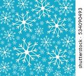 snowflake simple seamless... | Shutterstock .eps vector #534090493