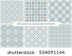 collection of ornamental... | Shutterstock .eps vector #534091144