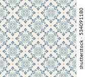 seamless vector retro pattern.... | Shutterstock .eps vector #534091180