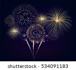 Golden Fireworks Set On...