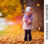 beautiful happy baby girl...   Shutterstock . vector #534093808