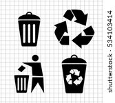 recycling    vector icon | Shutterstock .eps vector #534103414