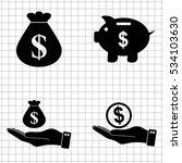 money   vector icon  set   ... | Shutterstock .eps vector #534103630