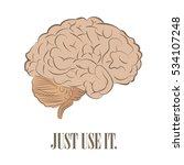 brain front. just use it | Shutterstock . vector #534107248