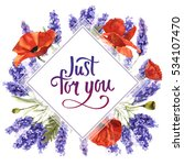 wildflower lavender flower... | Shutterstock . vector #534107470