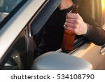 driving car under alcohol... | Shutterstock . vector #534108790