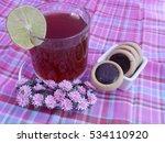 hot tea and chocolate cookies...   Shutterstock . vector #534110920