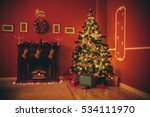 beautiful new year room with... | Shutterstock . vector #534111970