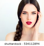 beautiful  brunette model girl... | Shutterstock . vector #534112894