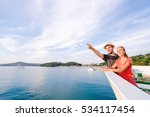 romantic vacation. young loving ... | Shutterstock . vector #534117454
