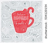 winter card. the lettering  ... | Shutterstock .eps vector #534120154