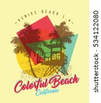 surf graphic. t shirt printing. ... | Shutterstock .eps vector #534122080