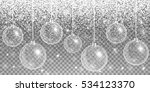 christmas decoration silver.... | Shutterstock .eps vector #534123370