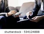 business partners discussing... | Shutterstock . vector #534124888