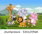cartoon wild animal in the... | Shutterstock . vector #534125968
