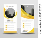 yellow circle business roll up... | Shutterstock .eps vector #534127393