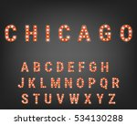alphabet with bright light... | Shutterstock .eps vector #534130288