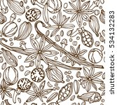 vector seamless pattern with...   Shutterstock .eps vector #534132283