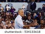 President Obama Speaking At Hi...