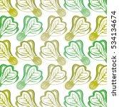 fresh vegetable pattern... | Shutterstock .eps vector #534134674